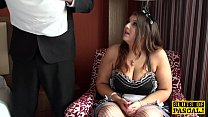 Chubby brit maid Lucy pussyfucked