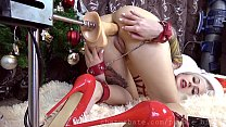 Sweet teen loves BIG cock & X-mas girl ANAL CREAMPIE 2 in 1 vids
