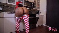 Man walks in on big booty bitch baking cookies naked