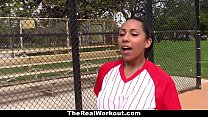 TheRealWorkout - Busty Latina (Priya Price) Loves To Play with Balls