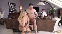 DADDY4K. Boy is while cunning dad fucks his bimbo girlfriend