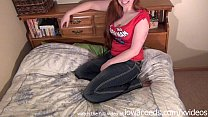 cute iowa university student stripping down for...
