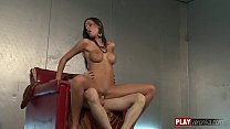 Kortney Kane Elitis; brunette, beauty, blowjob, hardcore, pussy licking