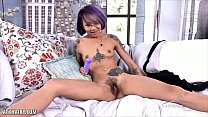 Emo cutie Kimberly Chi fingers hairy pussy