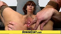 Grandma Lada a zoomed old hairy vagina fingering