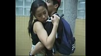 Asian teenagers fuck at public bathroom preview image