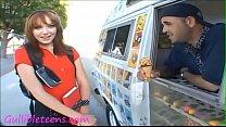 Gullibleteens.com icecream truck teen schoolgirl knee high socks creampie