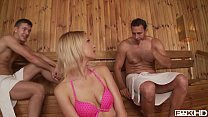 Anal Dp For Teen Karina Grand As The Sauna Gets Schorchingly Hot