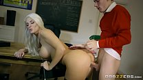 Brazzers - Dirty teacher Blanche Bradburry gets fucked by two studs thumbnail