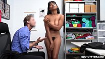 Ebony shoplyfter fuck hard by white cock