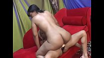 Two lesbian friends Jade Deluna and Chanel Dior show each other their dildo collection صورة