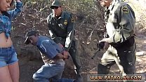 Police woman hd Mexican border patrol agent has his own ways to fend