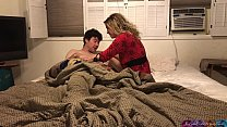 Stepmom shares bed with stepson - Erin Electra