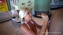 Busty MILF Sucks And Swallows Young BBC preview image