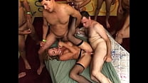 Mexican Anal Gang Bang #1 - American blonde fucked by Mexican gang