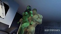She hulk and Hulk Bhuttuwap.In