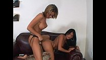 Dirty lesbian whores strap on fucking