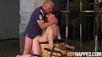 Submissive Alex Faux fucked hardcore by dom Sebastian Kane