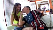 Daughter seduces old dad