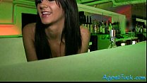 Slutty amateur Nia twat fucked in the bar for a lot of cash video
