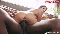 LETSDOEIT - French College Teen Clea Gaultier Takes Anal BBC In MMF Sex صورة
