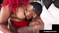 Big Black Booty Thick Red Plowed By Dark Dick Rome Major!