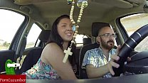 She sucks cock while he is driving the car video