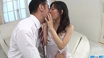 Manami Komukai blows and fucks in romantic scenes Image