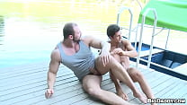 GAYWIRE - Muscular Czech Studs Tomm & Rudy Black Bumping Uglies Out In Public