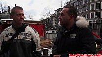 Busty amsterdam hooker gets jizzed on tits