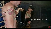 Dominating brunette tortures a man - 69VClub.Com