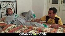 y. dude helps injured big tits grandma