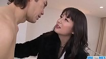 Office bimbo, Ayumi Iwasa, removes her undies for a wild fuck- More at JavHD.net video