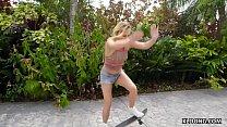 Skater girl Carter Cruise takes a huge cock