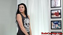 Restrained amateur screwed hard at audition