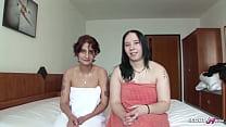German old Couple Seduce Teen to Amateur Lesbian Date