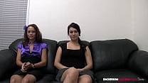 Total Newbies 20yo Emma And 21yo Leah Share Their First Cock Together!