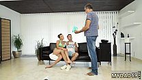 3d old Sex with her boyfriend´s father after swimming pool