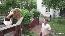 Anushka Sex Movies ‣ Skinny German Teen Seduce to Fuck Outdoor for Money thumbnail