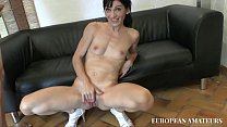 Anal casting for a milf eager to drink a lot of cum