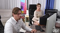 Cock sucking at the office gives busty Nikky Dr...