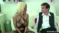 German Teen Hooker Fuck with Two Stranger Boys