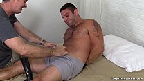 Freaky pervert loves to tickle and tease hairy tied up stud