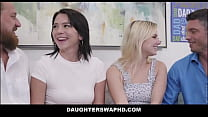 Two Petite Teen Stepdaughters Riley Jean And Aria Banks Swap Fuck Each Others Dad's For Fathers Day Group Sex