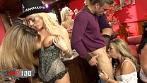 Crazy sexual orgy in a british bar