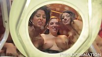 3 crazy femdommes redhead busty elena de luca, Goddess tangent hugt tits  and huge ass Bossy delilah smoke and take turns pissing on your face pov