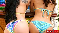 Mature Lisa Ann in a hot threesome with a latina teen