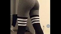 Teen yoga pants (no nude)