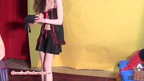 19yo skinny chick shows her body at the casting Thumbnail