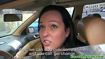 Real euro babes creampie in her taxi